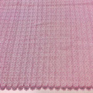 Pink métallique French lace-5m