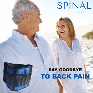 Spinal Blue Man and Woman on beach