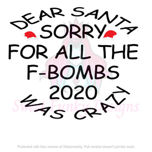 Dear Santa Sorry For The F-Bombs - Candi's Vinyl Creations