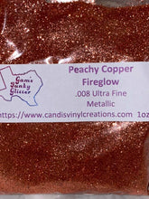 Load image into Gallery viewer, Peachy Copper Fireglow UF Glitter - Candi's Vinyl Creations