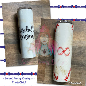 Baseball Mom Tumbler - Candi's Vinyl Creations