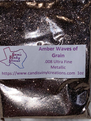 Amber Waves of Grain UF Metallic Glitter - Candi's Vinyl Creations