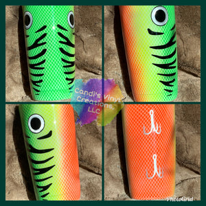 Fishing Lure Tumbler - Candi's Vinyl Creations
