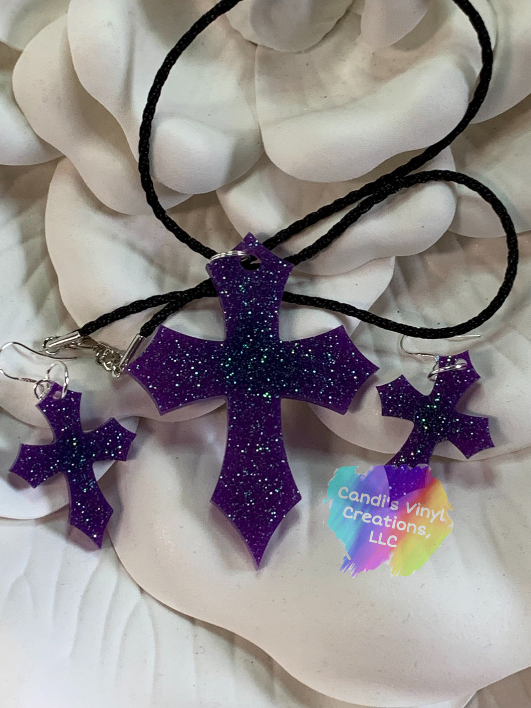 Cross Jewelry Set - Candi's Vinyl Creations