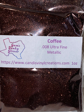 Coffee UF Metallic Glitter - Candi's Vinyl Creations