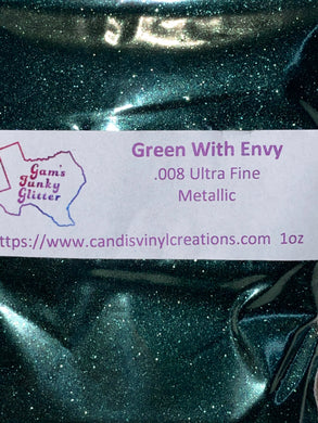 Green With Envy UF Glitter - Candi's Vinyl Creations