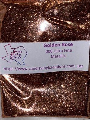 Golden Rose UF Glitter - Candi's Vinyl Creations