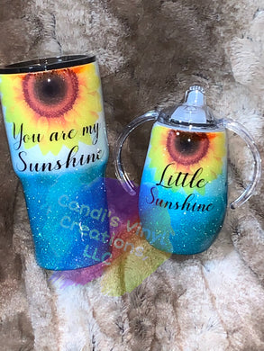 Mommy and Me tumbler set - Candi's Vinyl Creations