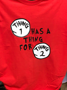 Thing 1 Thing 2 Couples Shirts - Candi's Vinyl Creations