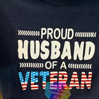Proud Husband of a Veteran shirt - Candi's Vinyl Creations