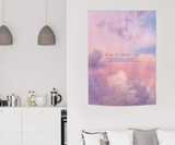 Pastel sky fabric poster 967