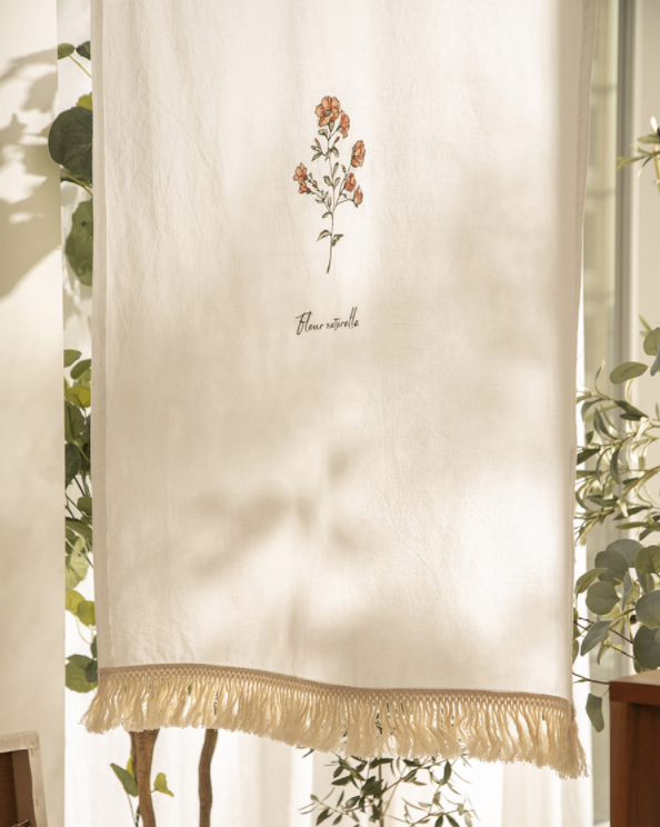 Flower embroidery curtain 646
