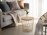 Gold wire side table 650