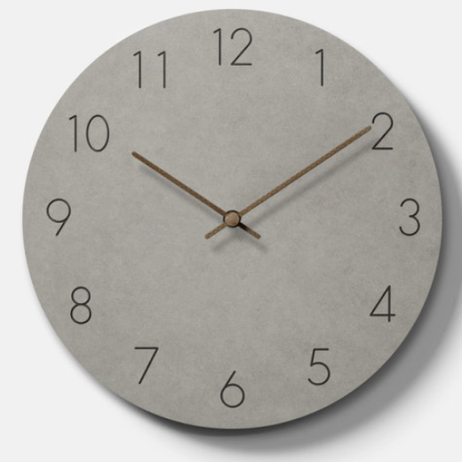 Concrete style wall clock 234