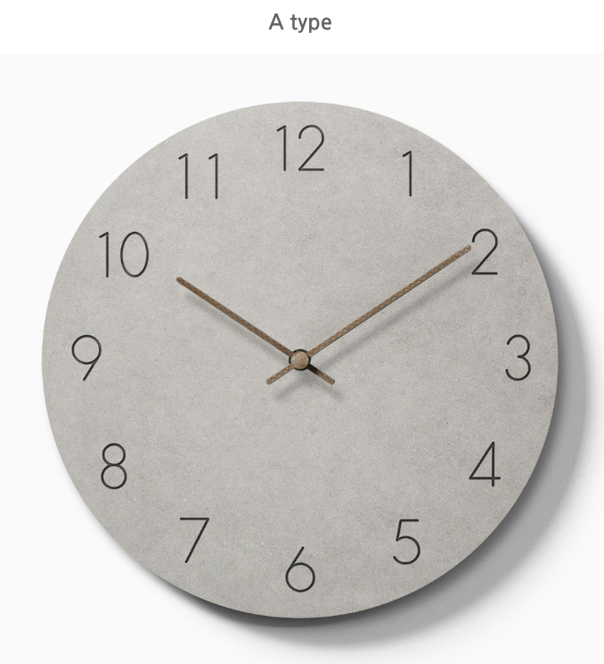 Concrete style wall clock C74