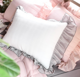 Romantic ruffle pillow cover 319