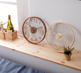 Glass wood interior wall clock 332