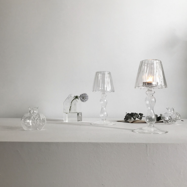 Clear candle holder C6
