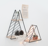Triangular wall shelves 464