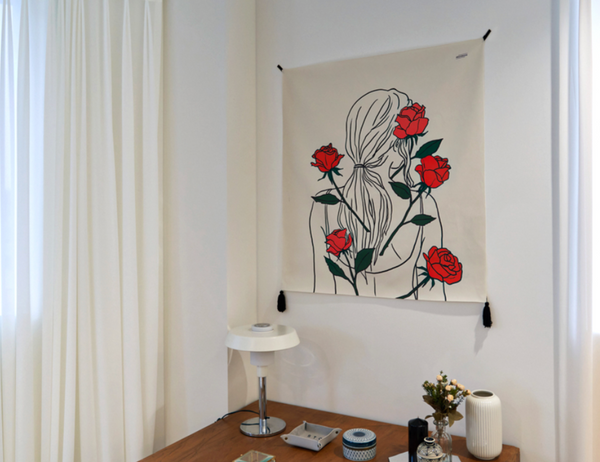 Rose fabric poster 466