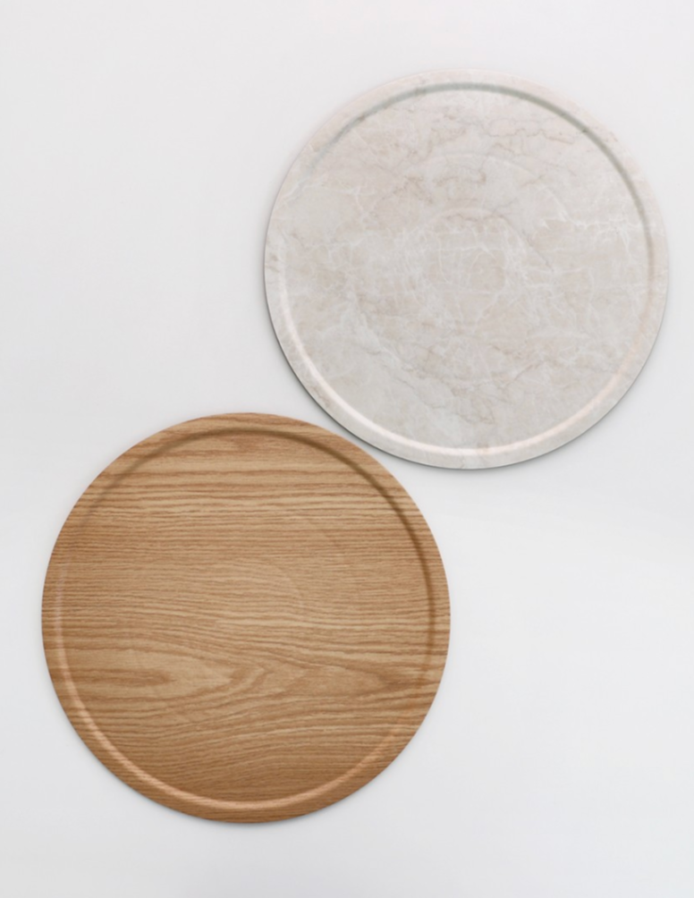 Marble and wood table mat 483