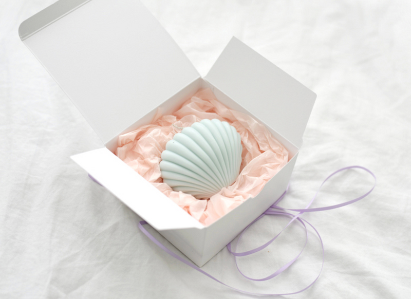 shell candle(mint)861