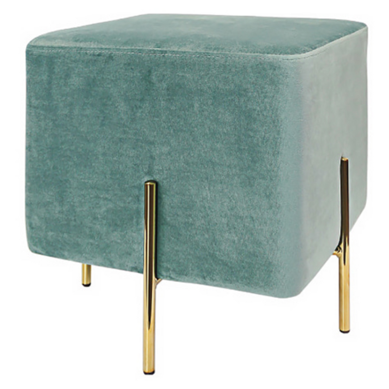 Cube gold stool 560