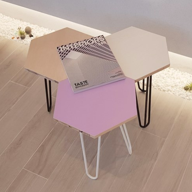 Hexagon mini table 564