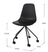 Smooth caster chair 586