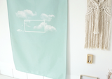 Cloud mint green poster 969