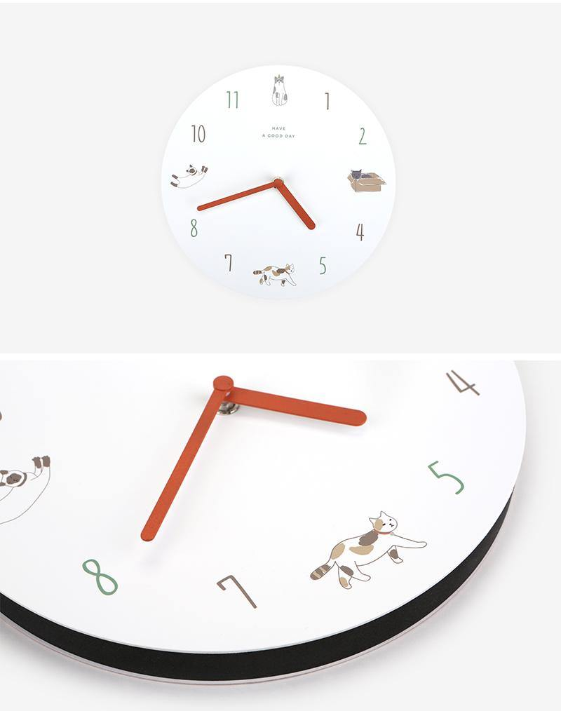 Cat wall clock 844
