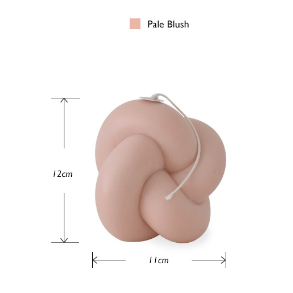 Tube Knot Candle(Pale Blush)856