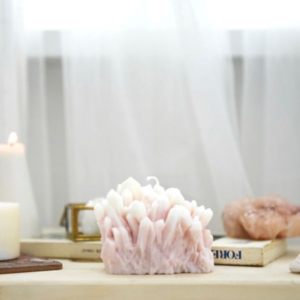 Gemstone candle(rose quartz) 859