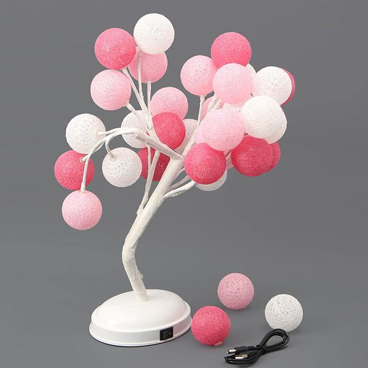 Cotton ball tree light 941