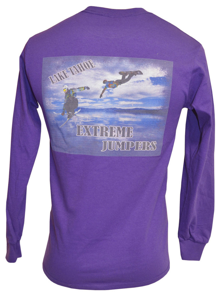 Blue Lake Purple Long-sleeved Tee
