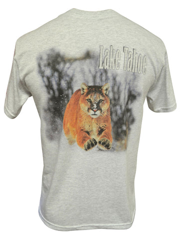 Cougar Attack! Ash T-shirt with Front Pocket