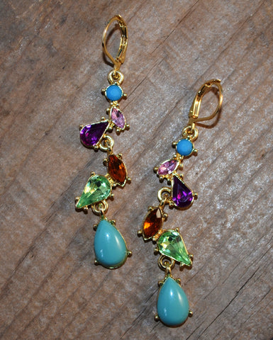 dangling tear drop earrings