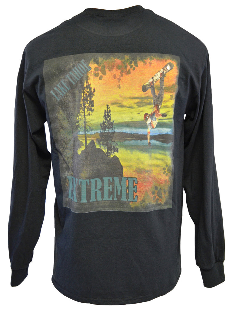 Green Trail Black T-shirt Medium