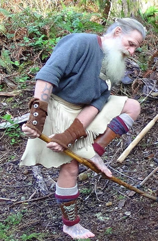 Mick Dodge wearing both versions of wrist wraps