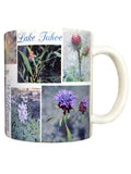 Lake Tahoe flowers mug