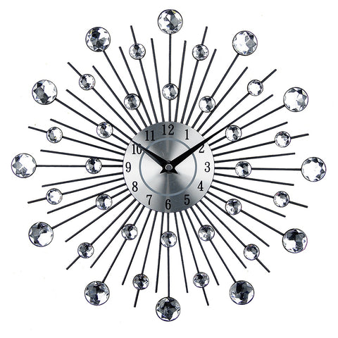 Abstract Metal Wall Clock 13""