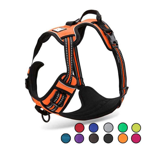 Reflective Nylon Large Dog Adjustable Harness