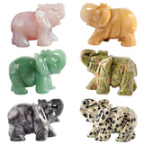 Natural Stone Carved Elephant 2""