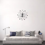 Starburst Metal Wall Clock 20""