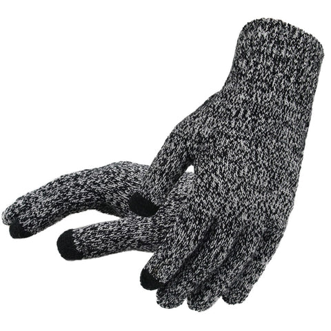 Men's Knitted Touch Screen Gloves