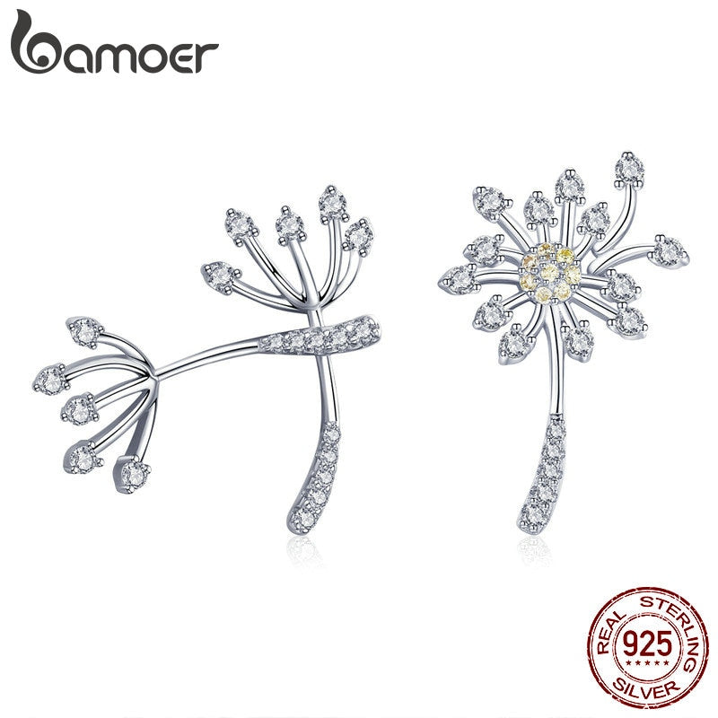Sterling Silver Blooming Dandelion Stud Earrings