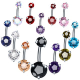 Crystal Belly Button Ring | Colors to Choose From