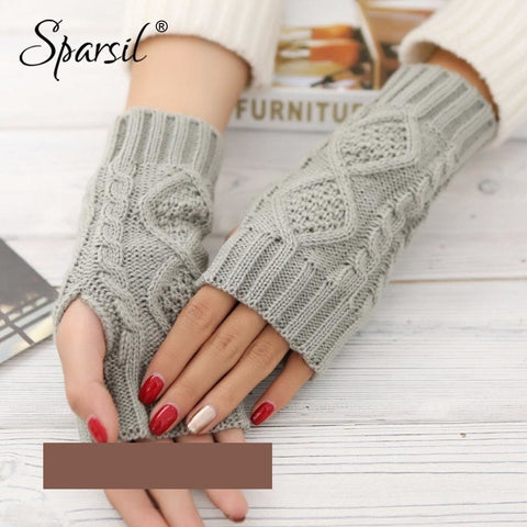 Unisex Fingerless Wool Gloves