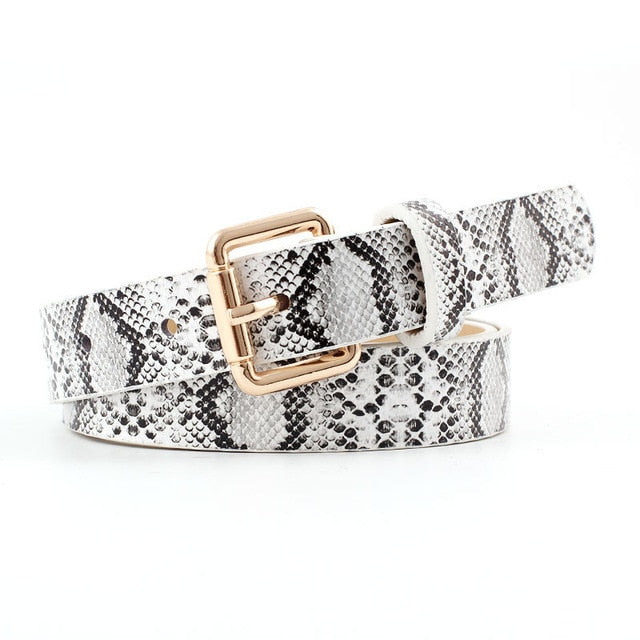 Faux Snake Skin PU Leather Belt