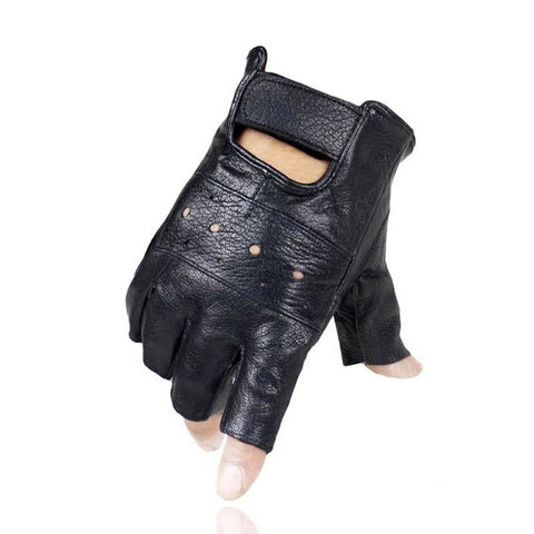 Slip-resistant Half Gloves | Genuine Quality Leather